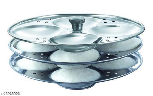 Stainless Steel Idli Stand idli Making Potmaker Idli Sancha 3 Plate (12 idli)