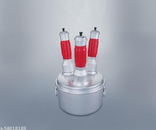 Aluminium Multi Puttu Maker 3 Hole Steamer