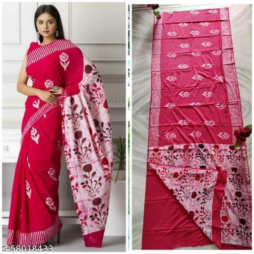 Rani printers presents all new handwax batik sarees  and handblock printed with blouse peice