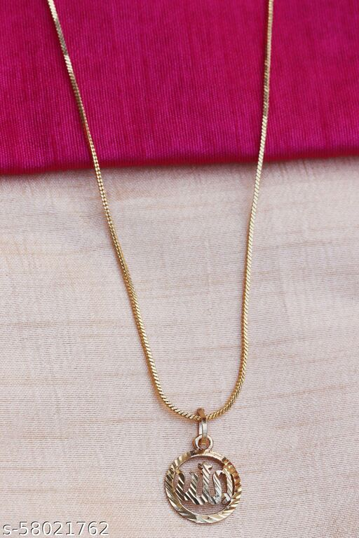 Locket with Chain for Girls Gold-plated Plated Alloy Chain