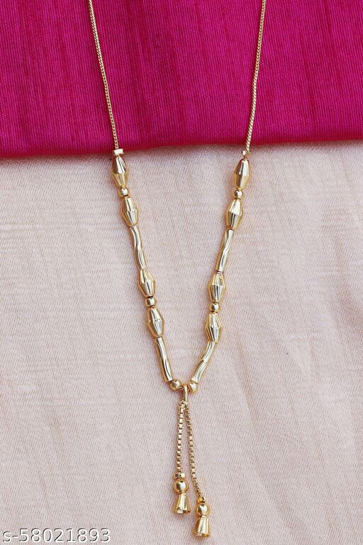 Micro Gold Plated Classic Golden  Chain Pendant for Women and Girls
