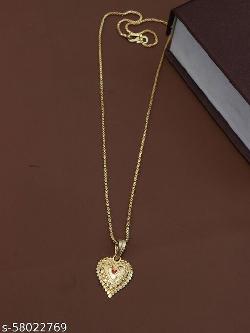 Classic pendent chain gold plated necklace