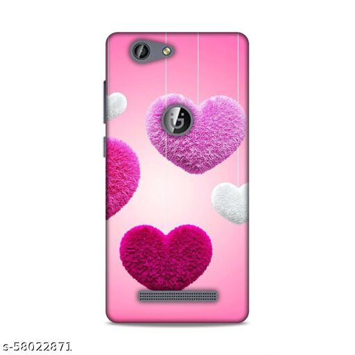SAHU KRAFT Back Cover For Gionee F103 Pro Printed Back Cover|Heart Printed Back Cover|(Pink, Hard Case)