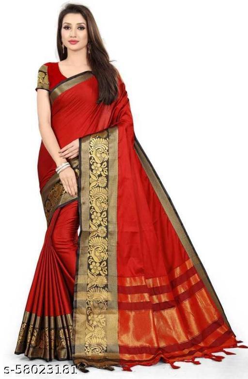 Striped Banarasi Cotton Silk Saree050