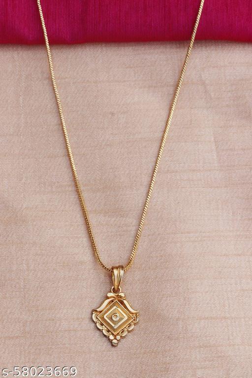 Womens Sherical Shape Gold Chain Pendant