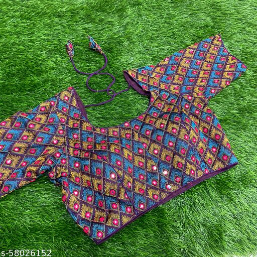 PEACOCK EMBROIDERY READYMADE blouse