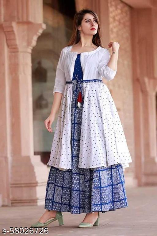 GrayWolf Two Piece Kurti Dress for Girls & Women
