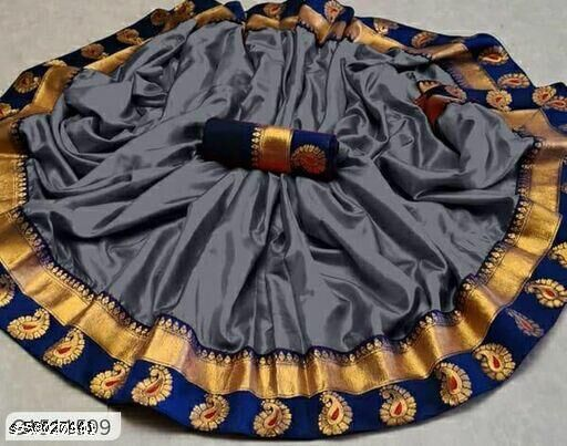 Paper Silk Saree with Beautiful Designer Lace