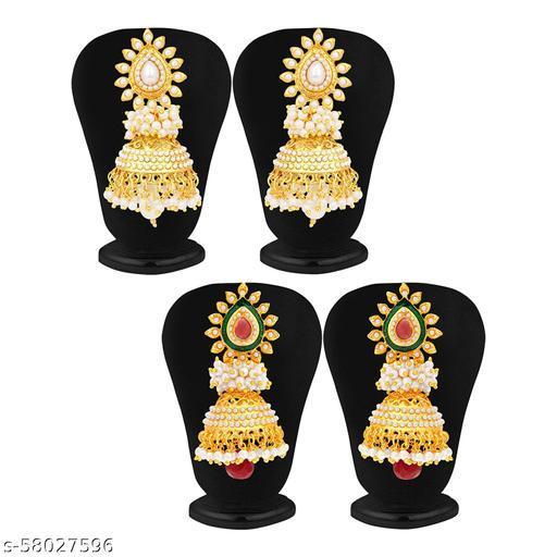 Pearl Jhumki Gold Plated Wedding Earrings