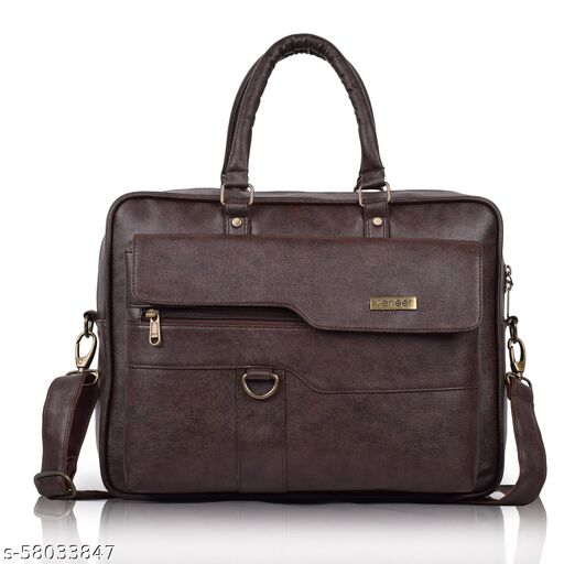 Synthetic Leather Casual Pu Fabric Office Laptop Crossbody Daytrip Pro Messenger Bag For Unisex
