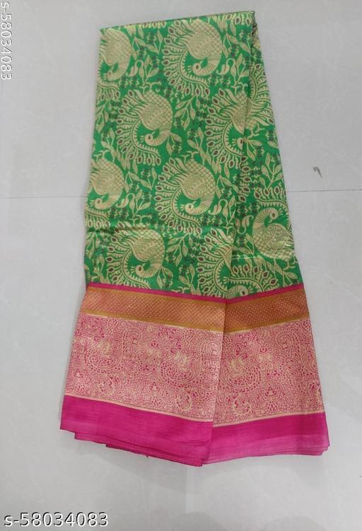 XAYA Cotton Silk Designer Saree with Attached Blouse