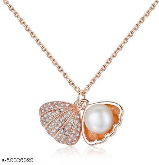 SEA SHELL PEARL PENDANT WITH ATTRACTIVE AND BEAUTIFUL CHAIN FOR YOUR CLASSIC BEAUTY