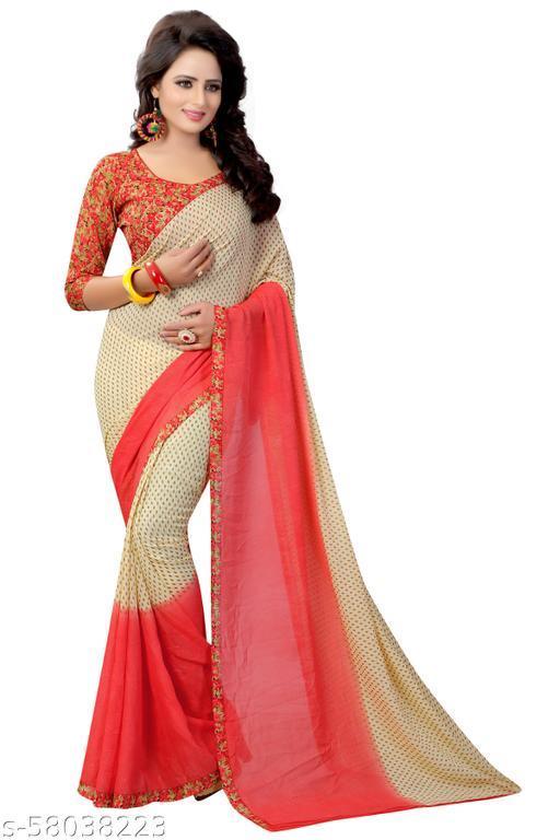3281 pading Red saree