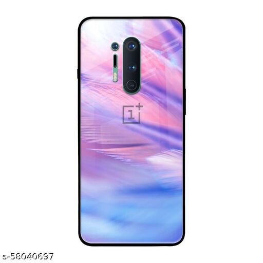 Qrioh Printed Tempered GLass Back Case Cover Compatible with OnePlus 8 Pro - Arctic Snow Real Glass Case