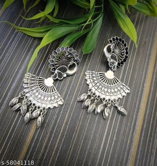 oxidized peacock Earring High Quality