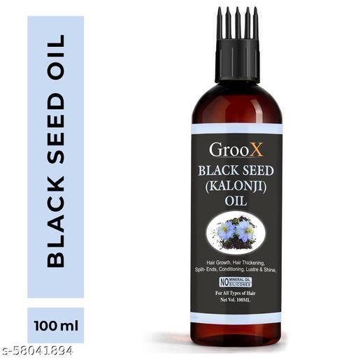 GrooX Black Seed Oil (Kalonji) Cold Pressed Pure Hair Oil  (100 ml)