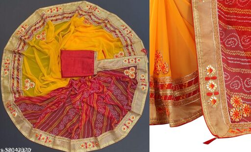 Exclusive New Designer Bandhani Saree