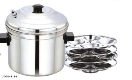 MSQUARE IDLI COOKER WITH 4 PLATES