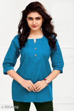 Stylish Women's Cambric Cotton Top