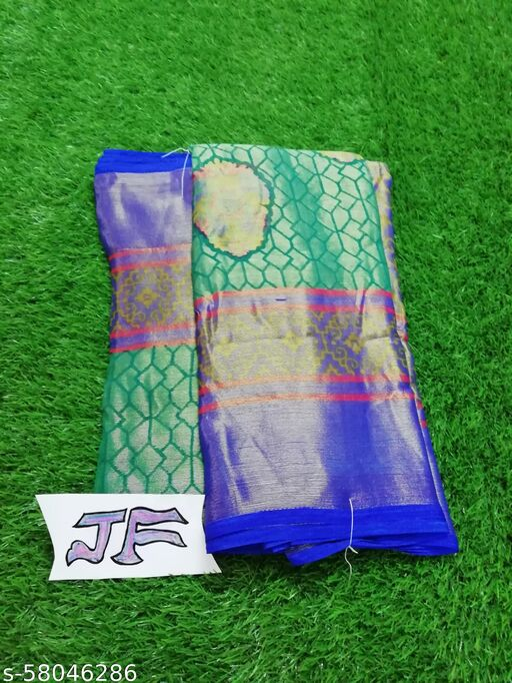 stunning and shiny chiffon brasso sarees