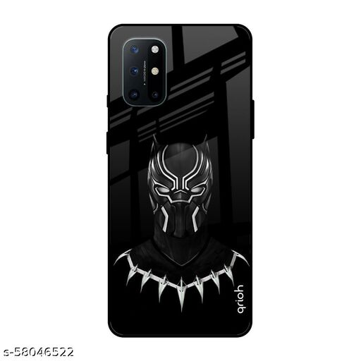Qrioh Printed Tempered GLass Back Case Cover Compatible with OnePlus 8T - Dark Superhero Real Glass Case
