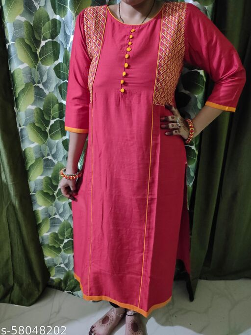 ANAYA-side Embroidered kurties