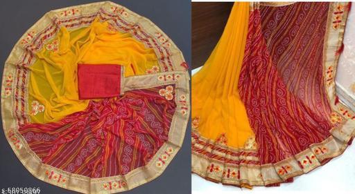 New Self Design Attractive Bandhani Saree