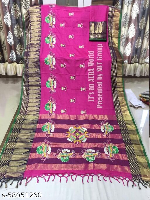Cloth Boost Buy Online Heavy Jacquard Silk Saree with Blouse Piece.