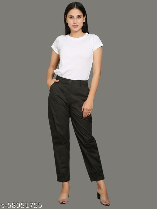 Olive green cotton cargo Trousers & Pants