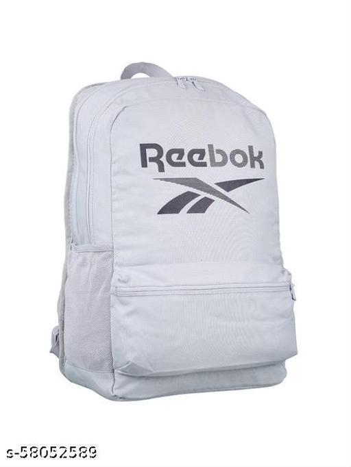 REEBOK WHITE SOLID MEDIUM BACKPACK