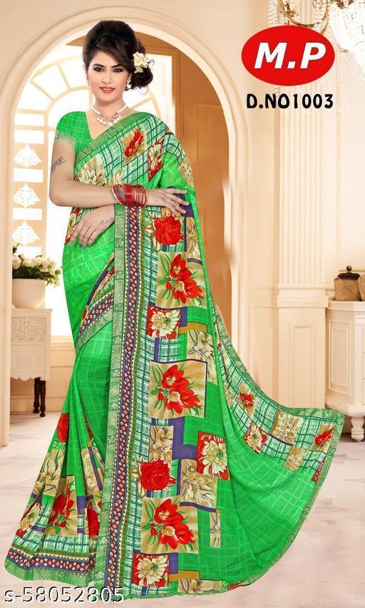 MARUTI PRINTS Fancy Printed Chiffon Saree (SIMRAN_VOL1_1003)