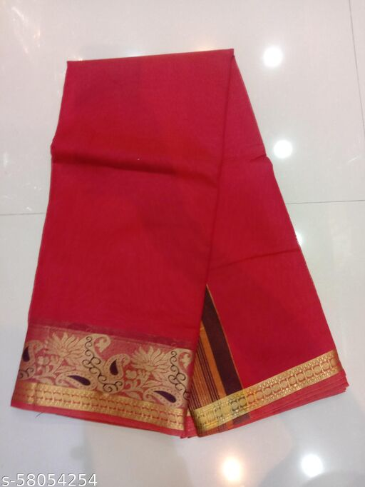 Silk Designer Zari Work Handlume Saree With Blouse