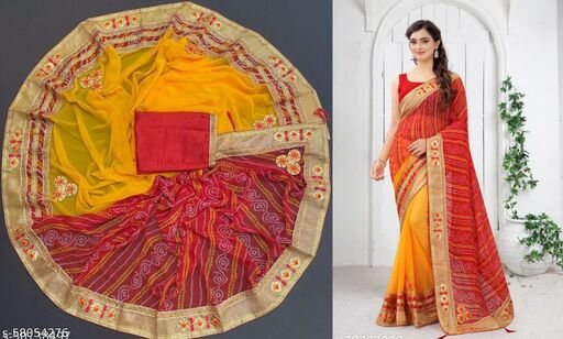 Attractive New Designer Bandhani Saree
