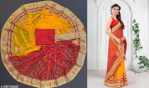 Latest New Designer Bandhani Saree