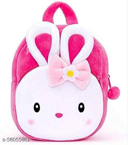 Riyaaz Plush Soft Hello Kitty Cartoon School Bag for Kids/Girls/Boys/Children (Red, 3-5 Years)