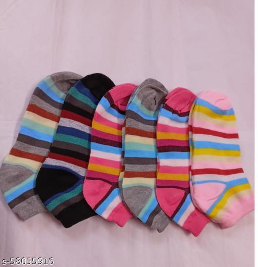 women ankle length socks-pack of 6