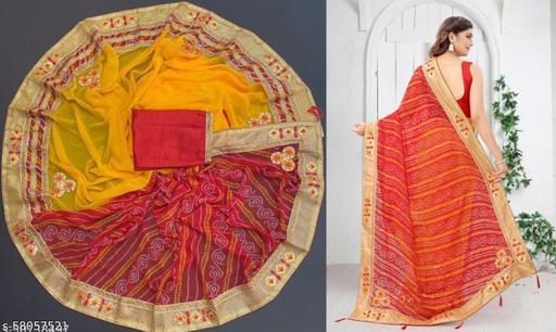 Attractive New Latest Design Bandhani Saree