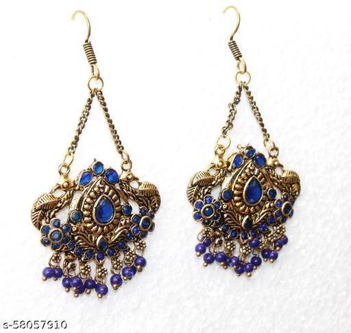 Gold Earrings Peacock Tribal  Style for Girls & women