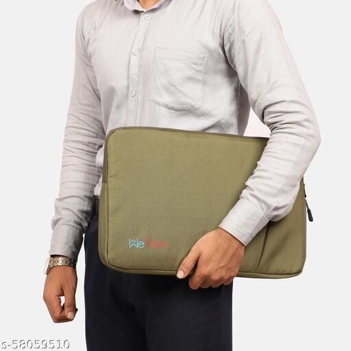WEVOXX 15.6 Inch Laptop Sleeve, Protective, Nylon Fabric Laptop Bag (OLIVE GREEN) Waterproof Laptop Sleeve/Cover