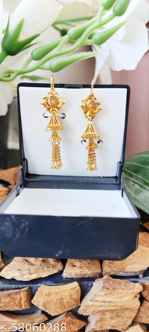 Prime and Precious Gold plated small size Jhumki Earring