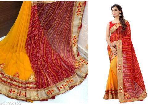 Exclusive New Design Latest Bandhani Saree