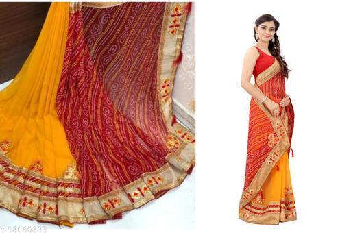 Trendy New Design Bandhani Saree