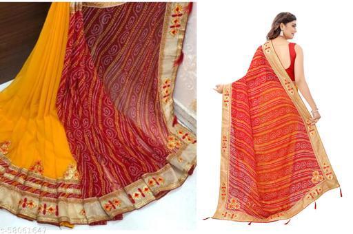 Exclusive New Designer Trending Bandhani Saree