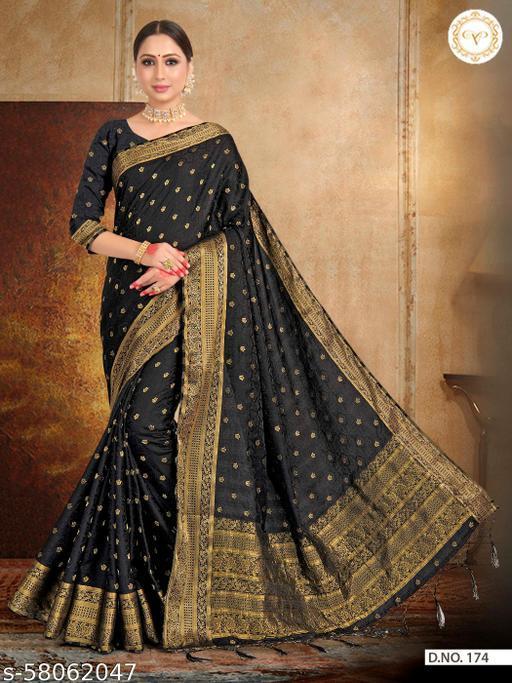 MAA ENTERPRISE Women's Satin Silk Saree With UnStitched Blouse Piece