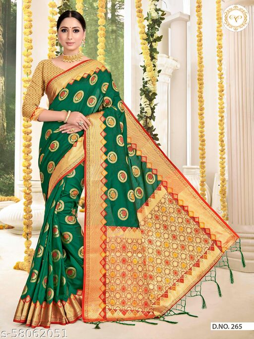 MAA ENTERPRISE Women's Art Silk Saree With UnStitched Blouse Piece