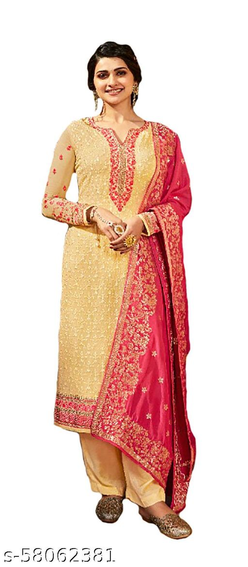 Party Wear Georgette Unstitched Dress Material