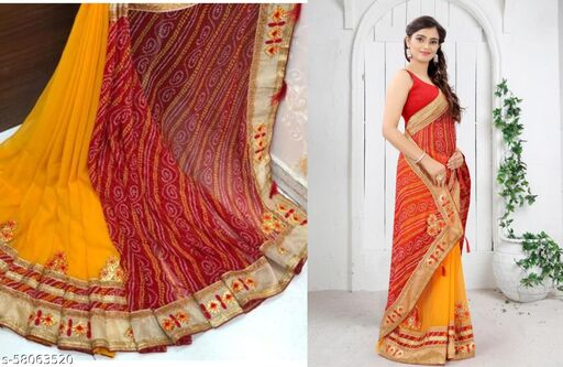 Trendy New Designer Bandhani Saree