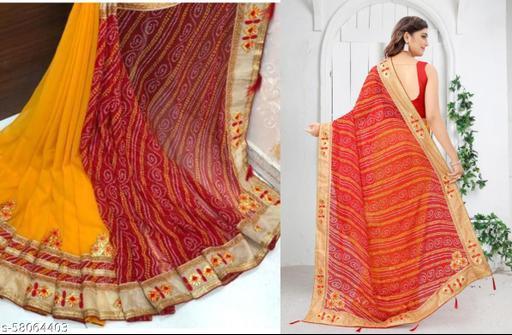 Trendy New Latest Designer Bandhani Saree