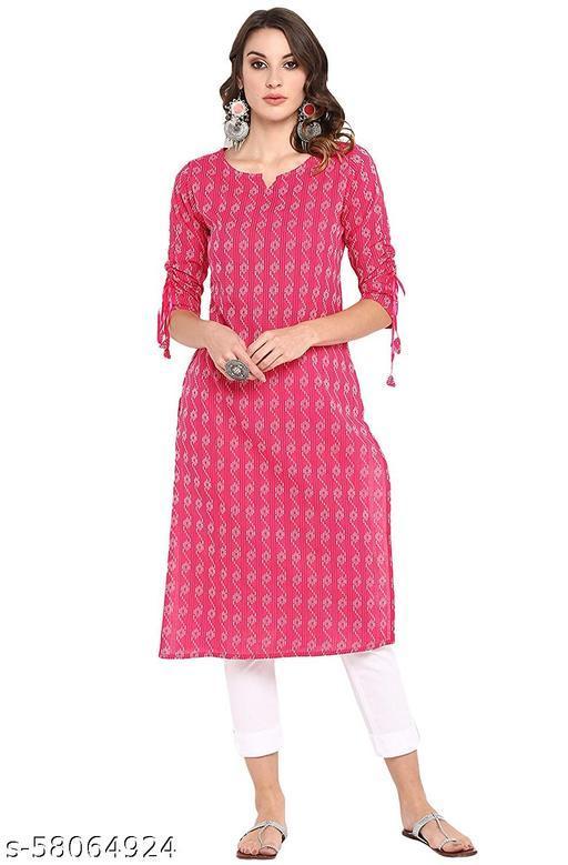 Janasya Women's Pure Cotton Straight Kurti