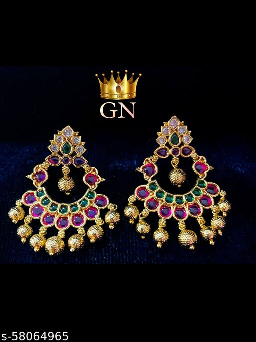 Multi Color AD stoned earrings